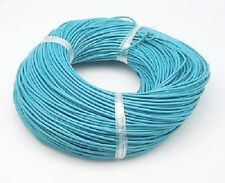 5 Metres of 1.5mm Sky Blue Genuine Leather Cord