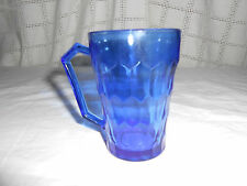 Hazel Atlas cobalt blue honey comb pattern Shirley Temple glass depression glass