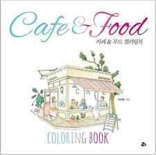 My Own Cafe Food Coloring Book Adult Anti Stress DIY Art Therapy Relieve Healing