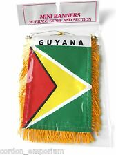 GUYANA MINI POLYESTER INTERNATIONAL FLAG BANNER 3 X 5 INCHES