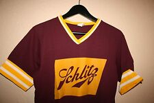 RETRO COOL 80S VINTAGE BASEBALL JERSEY SCHLITZ BEER! MENS SIZE SMALL S ADULT