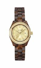Caravelle New York Women's 44M104 Crystal Accent Bezel Tortoise Shell Watch