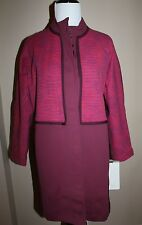 NWT Retail $138 Lululemon Cocoon Car Coat/Jacket Size XS(2-4) Rust/Bumble Berry