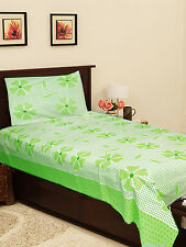 Homefab India Cotton Single Bed-Sheet with 1 Pillow Cover (Single163)