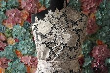 GF06 Champagne Upgrade Quality Guipure lace sold by 1/2 yard 120cm wide