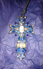 Fatto a mano Croce Crocifisso Gotica Halloween unico Decorato Collana