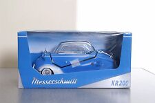 Blue Messerschmitt Kabinennroller Kit KR 200 1967 Diecast Model Kit 1/18