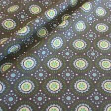 Stoff Meterware Jersey Baumwolle grau grün hellblau Kreise retro weiß Neu