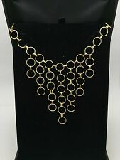"""Women's 14K Solid Yellow Gold 21"""" Round Chain Necklace 6.2 Grams 10.2 mm Jewelry"""