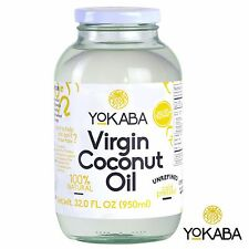 EXTRA VIRGIN ORGANIC COCONUT OIL UNREFINED 100% COLD PRESSED 32 oz YOKABA