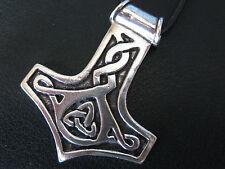 Thor s Hammer 925'er Silber Gross + Geschenkbox + Band Anhänger  / KA 308