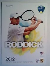 ANDY RODDICK 5X7  WESTERN & SOUTHERN TOURNAMENT PLAYER COLLECTOR CARD ATP