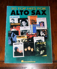 BOOK: Thirty 30 Top Hits for Alto Saxophone / 90s Teen Spirit Nirvana One U2 Why