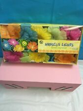 BRAND NEW HIBISCUS LIGHTS INDOOR OUTDOOR PARTY HAWAIIAN LUAU TROPICAL