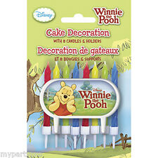 Winnie the Pooh Cake Decoration with candles Party Supplies Disney's Pooh