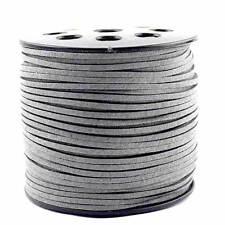 1 Mètres Cordon Lacet Fil Suédine Textile couleur gris