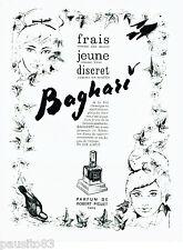 PUBLICITE ADVERTISING 016  1964  ROBERT PIGUET parfum  Baghari  Serge Mansau