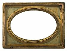 Antique Florentine Picture Frame with 4 x 6 Oval Opening