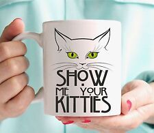 Personalised FUNNY CAT Mug Cup Birthday Gift Idea Present Any Name feline