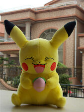"""2016 TOMY Pokemon Large Hungry Smiling Pikachu with Peach 11"""" Plush Toy"""