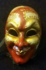 Vintage LAGUNA Handmade/painted Venetian Mask -Music Notes -ITALY - MARKED