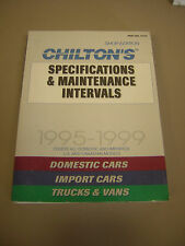 Chilton Specifications&Maintenance Intervals Domestic&Import Cars,Trucks,Vans