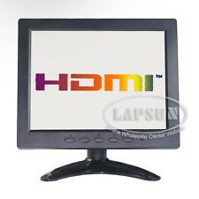 8 inch TFT LCD Color Monitor Screen HDMI VGA AV BNC Input Portable for PC CCTV
