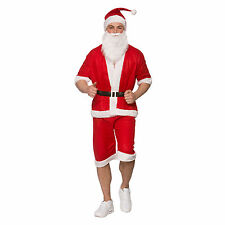 Adults Men Run Holiday Santa Clause Christmas Festive Fancy Dress Costume Outfit