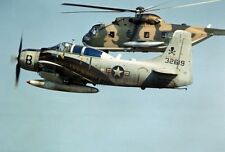 """A-1E Skyraider Escorting an HH-3C Rescue Helicopter 13""""x 19"""" Vietnam Poster 107"""