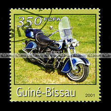 ★ INDIAN CHIEF 1941 ★ GUINEA BISSAU Timbre Poste Moto / Motorcycle Stamp #71