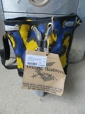 VIVIENNE WESTWOOD New With Tag Leopard Mini Bucket Yellow And Blue Bag Christmas