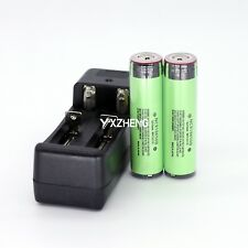 2PCS Protected Panasonic NCR18650B 3400mAh Rechargeable Battery With PCB+Charger