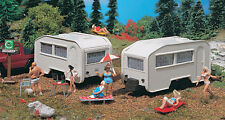 HO scale Vollmer Two Camper / Camping Trailers : Model Building KIT