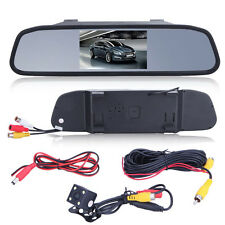 "4.3"" Car Kit TFT LCD Monitor Mirror Wireless Reverse Car Rear View Backup Camera"