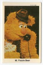 1970s Swedish Card #60 The Muppet Show Muppets Fozzie Bear on telephone