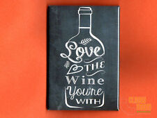 "Wine Lovers 2x3"" fridge/locker magnet chalkboard look"