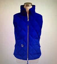 NWT J Crew Women's S Quilted Excursion Vest Bright Ocean  #92465 Down Filled