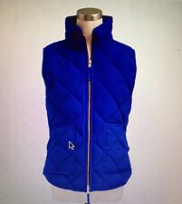 NWT J Crew Women's M Quilted Excursion Vest Bright Ocean  #92465 Down Filled