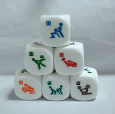 CEAU 1Pcs x 6 Sides Sex Dice Game 20mm PVC Toy Fun Bachelor Party Adult  Gift