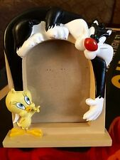 Looney Tunes Sylvester Tweety Bird Warner Bros Picture Frame 1996