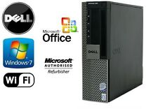 Quad Core Dell Optiplex 960 Wifi Desktop PC 8GB RAM 120GB SSD Dual Monitor Input