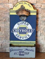 Chevrolet Super Service Wall Mount Bottle Opener with Cap Box chevy corvette