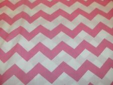 "Chevron Quilt Fabric 1"" Stripe Pink Zigzags Stripes BTY"
