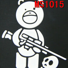 New Embroidered Black Airsoft Titus Bear Patch With Velcro Back Patches Soldier