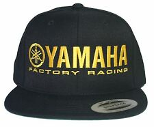 YAMAHA FACTORY RACING hat cap flat bill snapback black yellow MX YZF YFZ RI R6