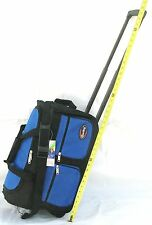 """20"""" 40LB CAP ROLLING WHEELED DUFFLE BAG CARRY ON LUGGAGE SUITCASE  W/ HANDLE GTB"""