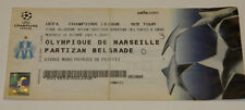 OLD TICKET CL Olympique Marseille Om France - Partizan Beograd Serbia
