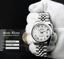 ROLEX - Mens Stainless Steel DateJust White Roman Dial - 116200 SANT BLANC