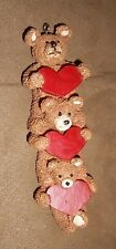 Kurt S. Adler Stacked Bears with Hearts Christmas Holiday Ornament - Very Good