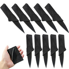 10 x Credit Card Knives Lot Folding Wallet Thin Pocket Survival Micro Knife USA